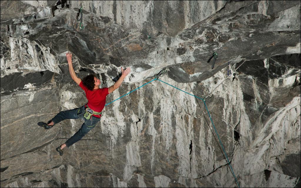 Adam Ondra, der härteste Kletterroute der Welt, der Hanshelleren Norway