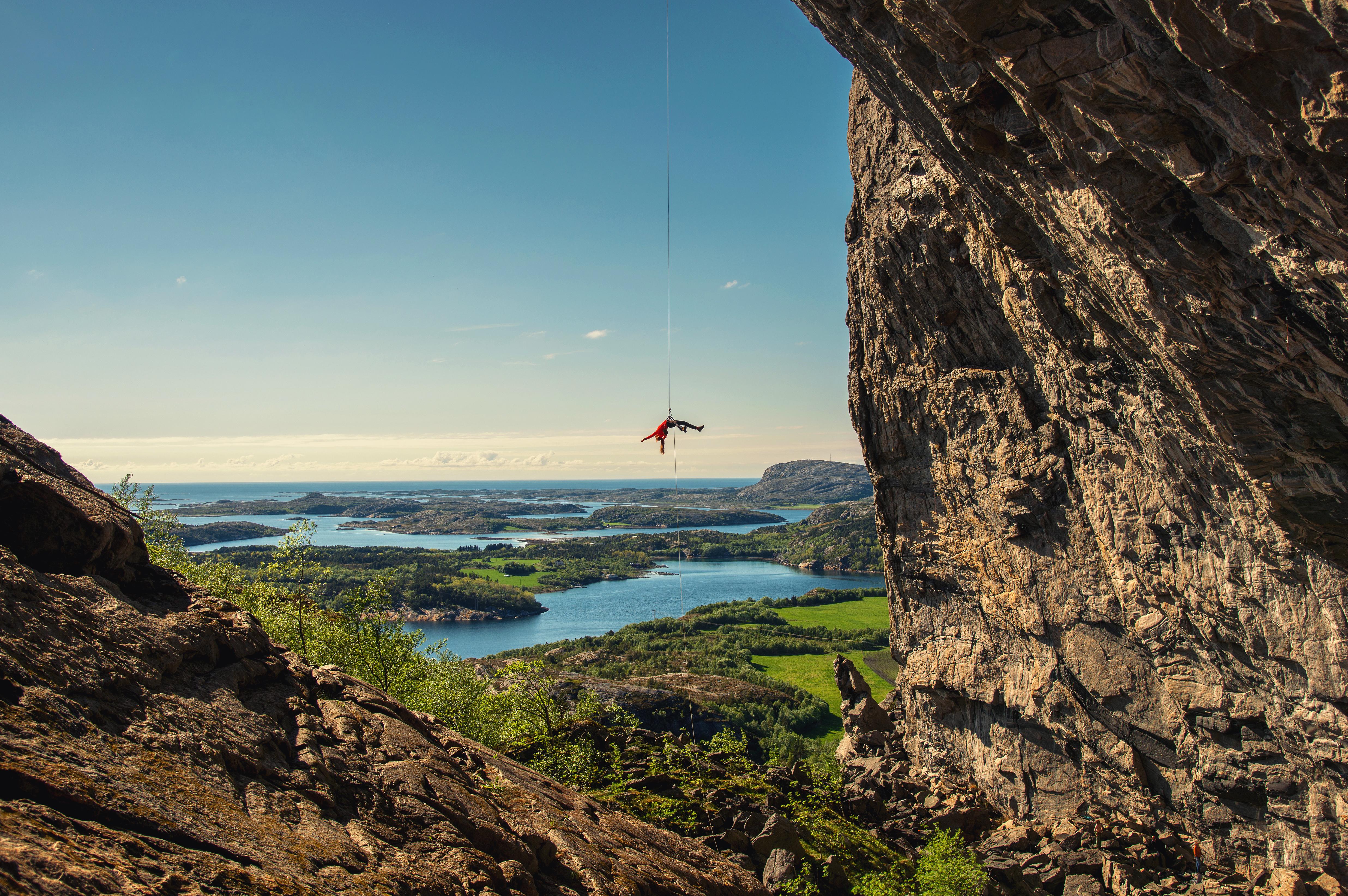 Hanshelleren, Norwegene - eine einzigartige Kletterwand