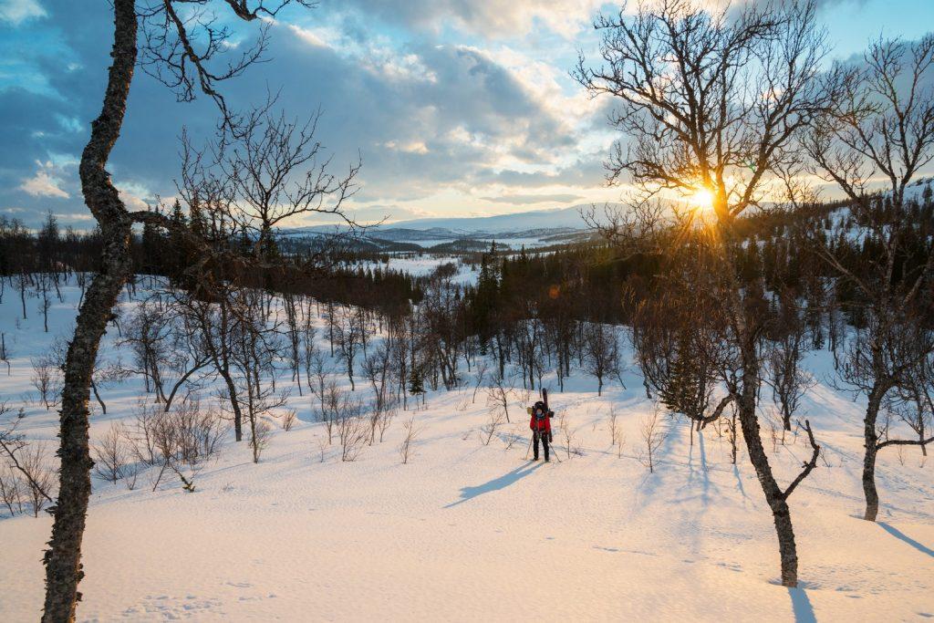Winter – Schnee und Ski fahren in Namdalen