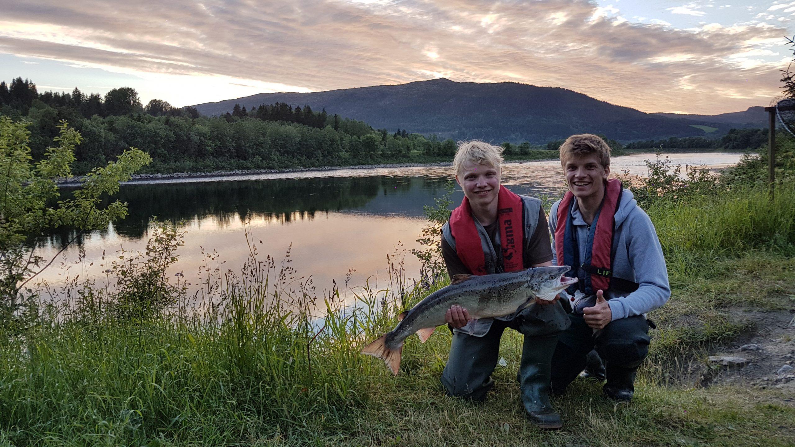 Lachsangeln, Namsen, Norwegen